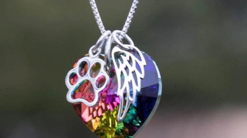 Rainbow Bridge Pet Loss Necklace