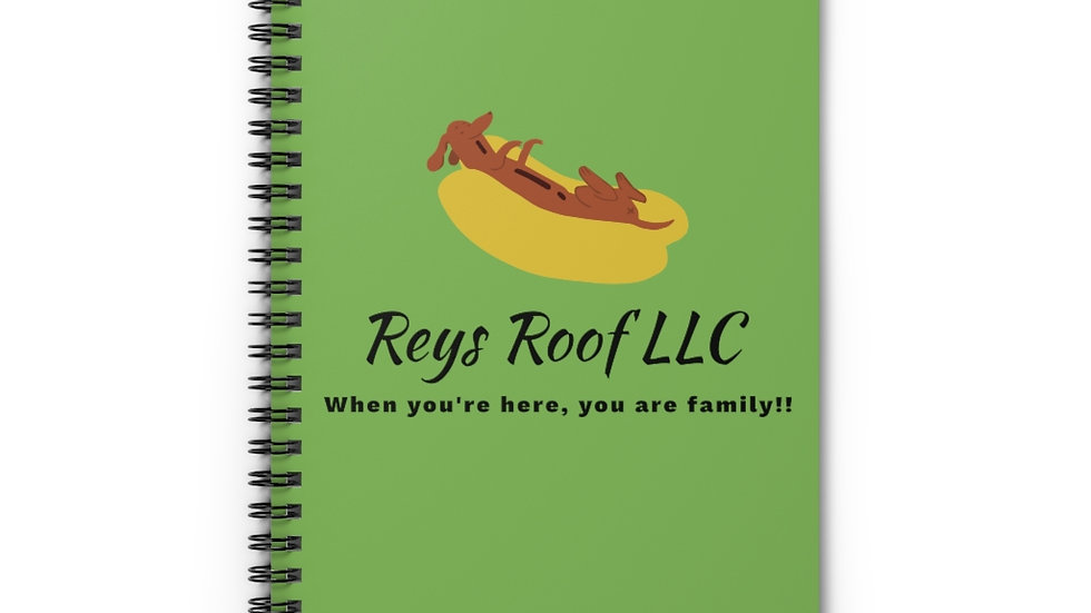 Reys Roof Spiral Notebook - Ruled Line