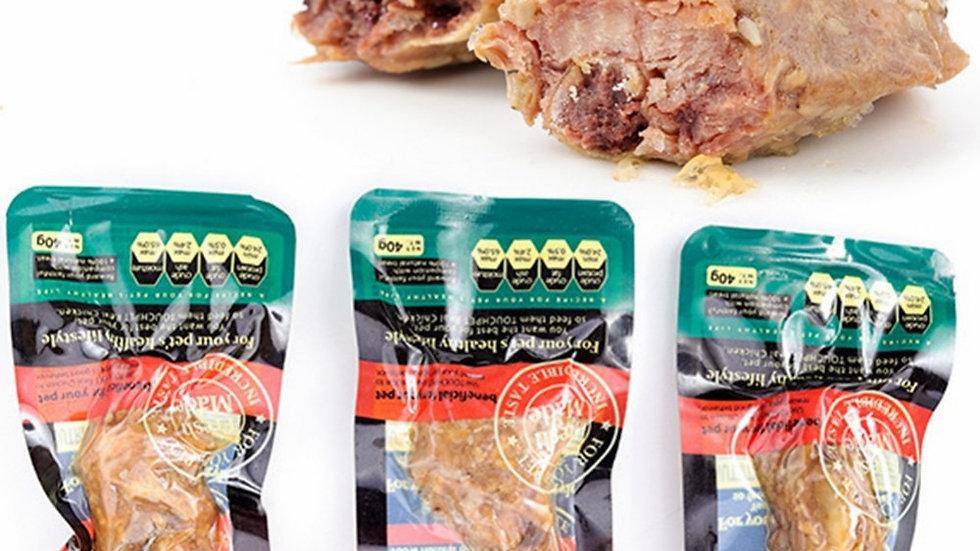 KEMISIDI Chew Dog Food Feeders Fresh Beef Material Dogs Snacks