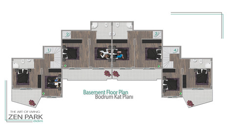 Basement Floor Plan (Bodrum Kat Planı)