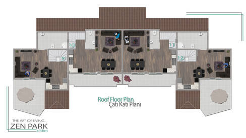 Roof Floor Plan (Çatı Katı Planı)