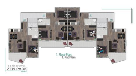 1. Floor Plan (1. Kat Planı)