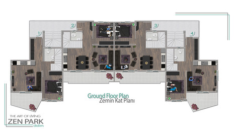 Ground Floor Plan (Zemin Kat Planı)