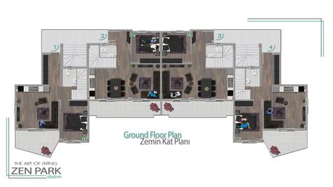 Ground Floor Plan (Zemin Kat Planı)