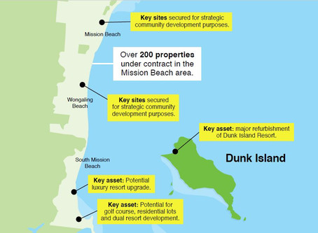 $1.6B vision to restore Dunk Island region and create over 10,000 (FTE) direct and indirect jobs