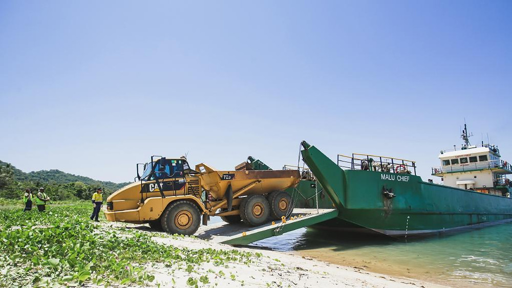 Mayfair Iconic Properties hired Seaswift's Malu Chief to transport heavy machinery to Dunk Island in February 2020