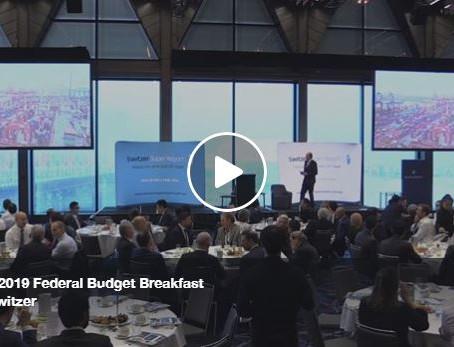 Switzer's 2019 Federal Budget Breakfast
