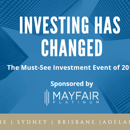 Announcing the Investing has Changed Australia wide tour