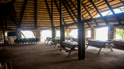 Camp set-up in the Dining Hall