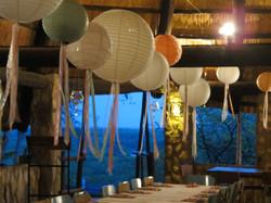 Wedding decor in dining hall