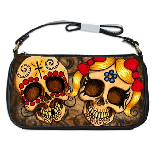 "Sugar Skull shoulder clutch ""Pancho and Juanita"""