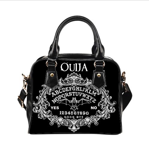 Ouija with Bat Shoulder Hand Bag