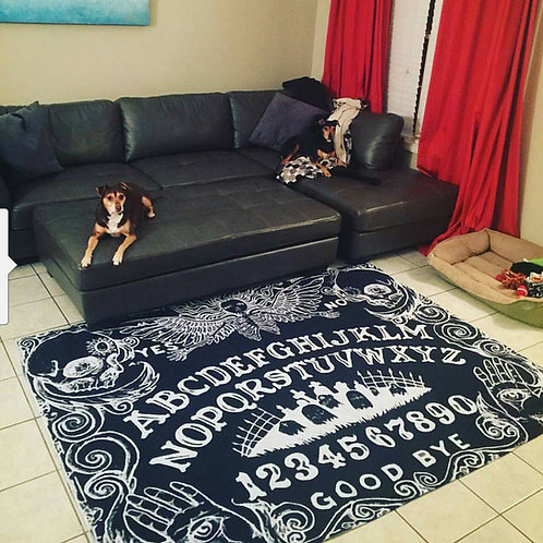 Ouija Board Area Rug In Black 5'x7'