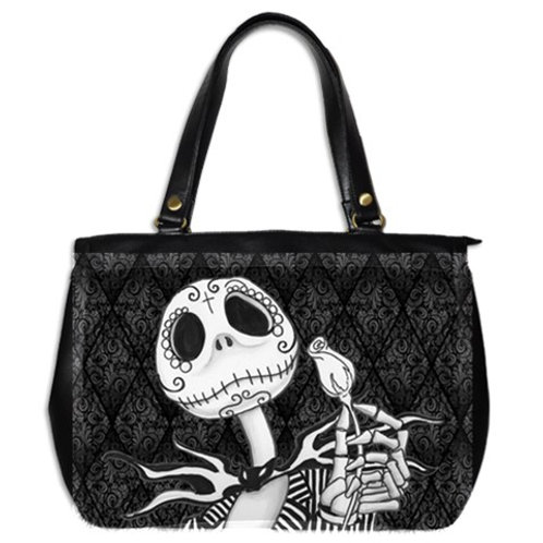Jack Skellington on Damask Large Hand Bag