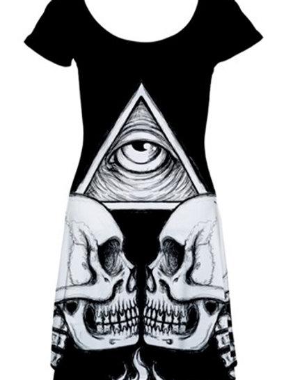Illuminati Skull dress