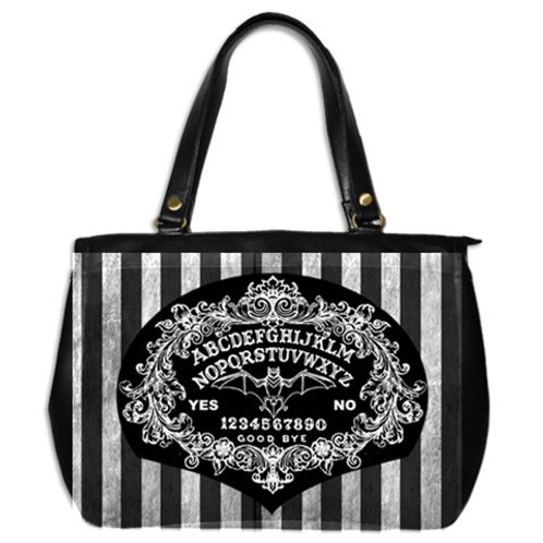 Ouija board Baroque and stripe large hand bag