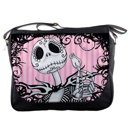 Jack Skellington inspired messenger bag