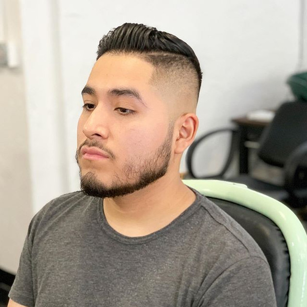 Skin fade and beard line up for a wonder