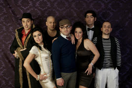 The original cast of Porn - the Musical; Louis Andrew Cassar, Trinity Fava, David Ellul, Max Dingli, Suzanne Wadge, Malcolm Galea and Toni Attard
