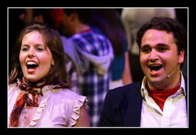 Philippa Mifsud and Justin Mamo in one of the musical numbers