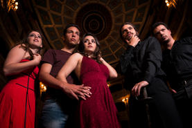 Karen Decelis (Lexy), Andrew Borg-Carbott (Eric), Naomi Said (Sabrina), Philip Leone-Ganado (William) and Joseph Zammit (Gabriel).