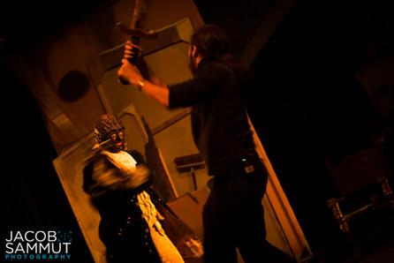 The showdown between the Cospicorn (Luke Brincat) and William (Philip Leone-Ganado).