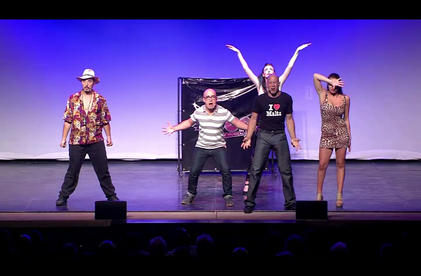 'The Plight of the Miscellaneous Man' and 'The Song where Everyone Bitches' performed by Toni Attard, Max Dingli, Sarah Naudi, Louis Andrew Cassar, David Ellul and Eliza Borg Rizzo at Pjazza Teatru Rjal in 2014