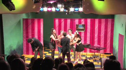 'You can go home now' performed by Brendan Cull, Sophia Thierens, David Burt, Alain Terzoli, Ahmet Ahmet and Jody Peach at Theatre503 in 2010