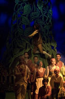 Jack ventures up the beanstalk at the end of Act 1.