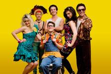 The London 2010 cast: Sophia Thierens, Ahmet Ahmet, Brendan Cull, Alain Terzoli, Jody Peach and David Burt