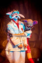 The White Rabbit (Joseph Zammit) finds love with the March Hare (Chiara Hyzler).