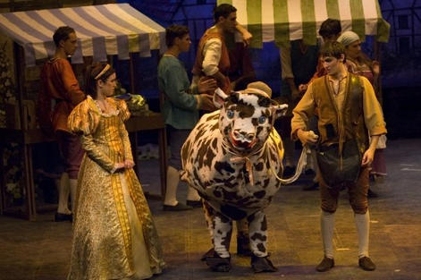 Jack (Paul Cuschieri) runs into Jill (Talitha Dimech) while trying to sell the family cow.