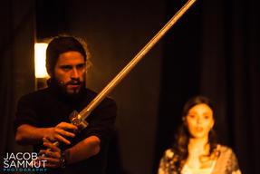 William (Philip Leone-Ganado) faces up to the Cospicorn.