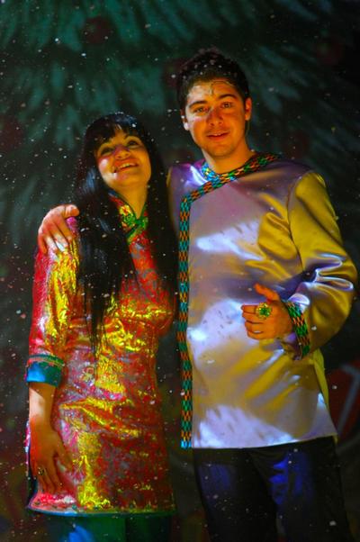 The Princess (Dorothy Bezzina) with Aladdin (Francis Ghersci).