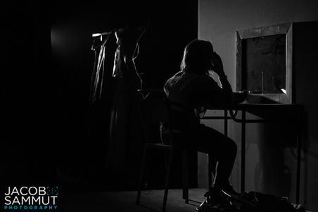 Sabrina (Naomi Said) reflecting in her dressing room.
