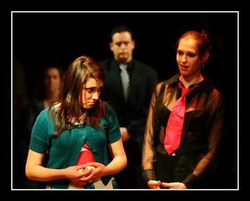 Juliet (Vanessa Gatt) meets the intimidating Lady Escalus (Steffi Thake)