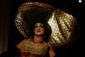 Jean Pierre Busuttil in a costume designed by Isabel Warrington.