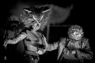 The Cheshire Cat played by Mandy Randon.
