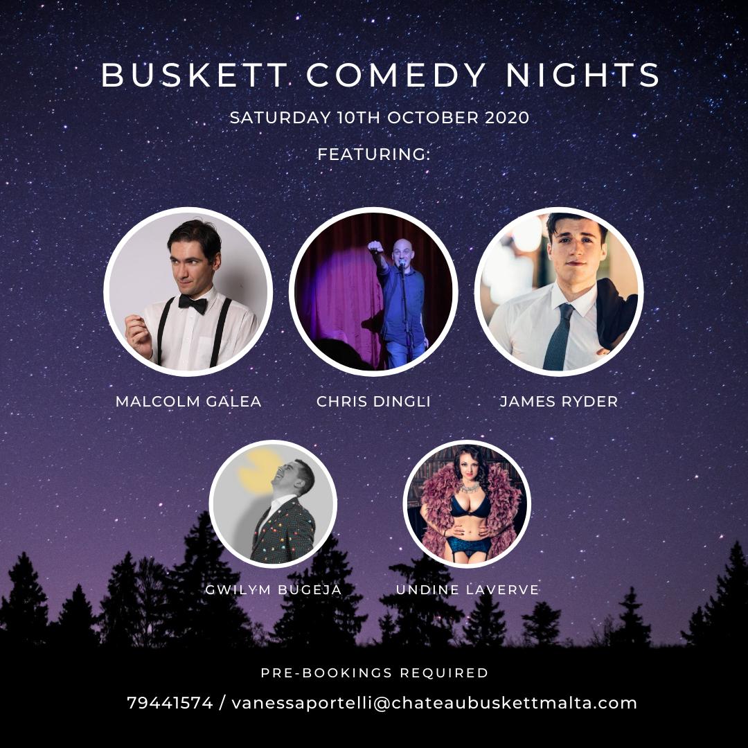 Buskett Comedy Nights #2 - Saturday, 10th October