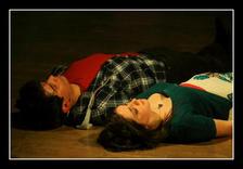 Romeo and Juliet (David Chircop & Vanessa Gatt) in the crypt