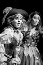 A musical number with Puss (Katherine Brown) and Jenny (Tina Rizzo).