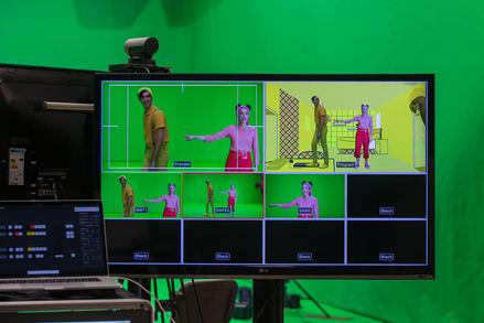 Trouser Girl being filmed in 2020.