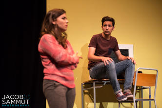 Sabrina (Naomi Said) discusses the mystery with crewmember Eric (Andrew Borg Carbott).
