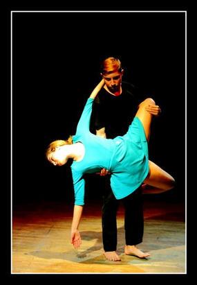 Simon Gravino and show choreographer Colette Caruana