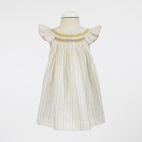 Linen Pastel Smock Fly Dress