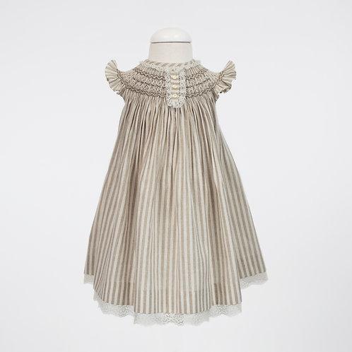 Natural Linen Smock Fly Dress