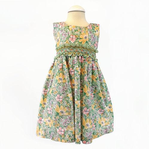 Lily Flower Smock Dress