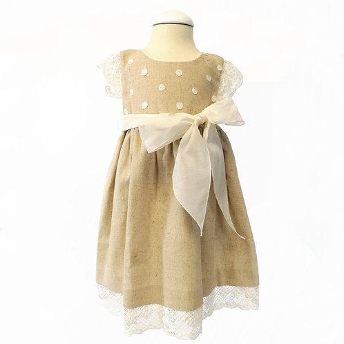 Natural Linen Lace Dress