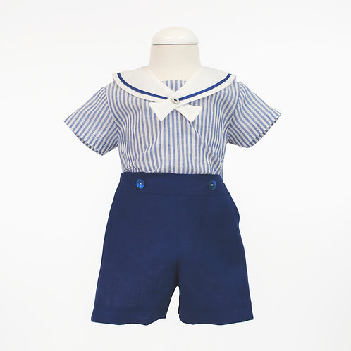 Maritime Linen Boys Outfit
