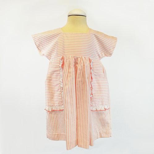 Satin Striped Pocket Dress